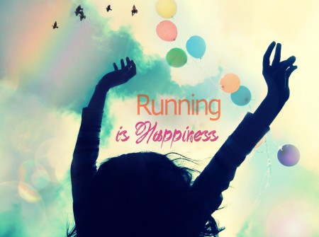 RUNNING is happiness worl